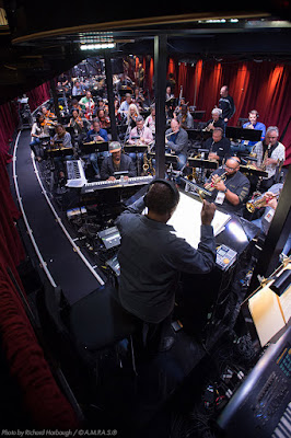 The Oscars orchestra practices for the 2016 Oscars in the Dolby Theatre.