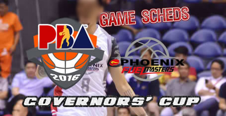 List of Games Schedules: Phoenix Fuel Masters 2016 PBA Governors' Cup