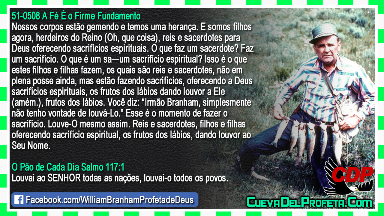 Oferecendo a Deus sacrifícios espirituais - William Marrion Branham