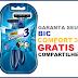 Amostras Grátis - Aparelho de Barbear Bic Comfort 3 pele normal