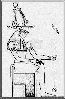Amon Ra mit Falkenkopf
