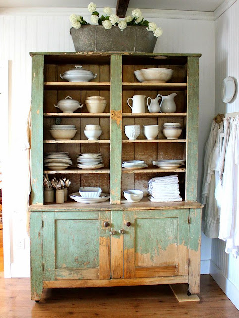 Hutch Makeover Before And After French Country