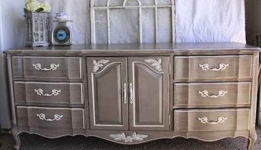 Grey French Provincial Dresser
