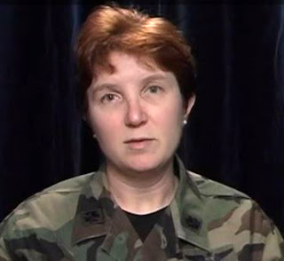 Then-Air Force Maj. Bridget Larew