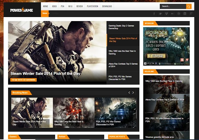 Top 10 Free Pro Gaming Blogger Templates 2020