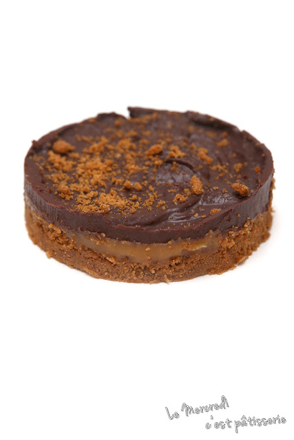 Tartelettes Speculoos, caramel au beurre salé et chocolat