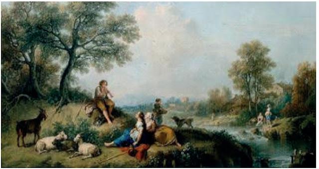"""ZUCARELLI, Francesco. """"Uma cena pastoral"""" (1750)."""