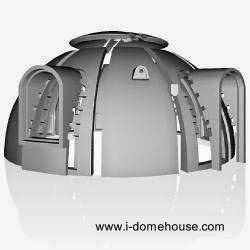Estructura de gajos de casa domo japonesa