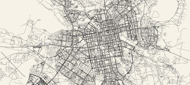 A simple tool draws stylish maps of any city in the world