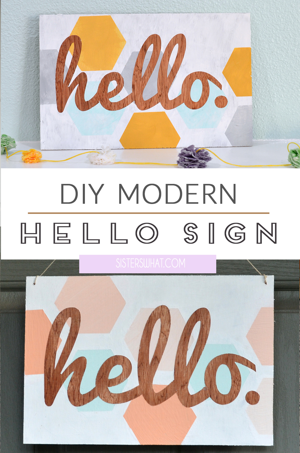 DIY Hello sign wood