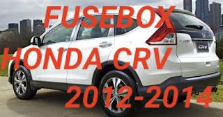 letak box sekring HONDA CRV 2012-2014
