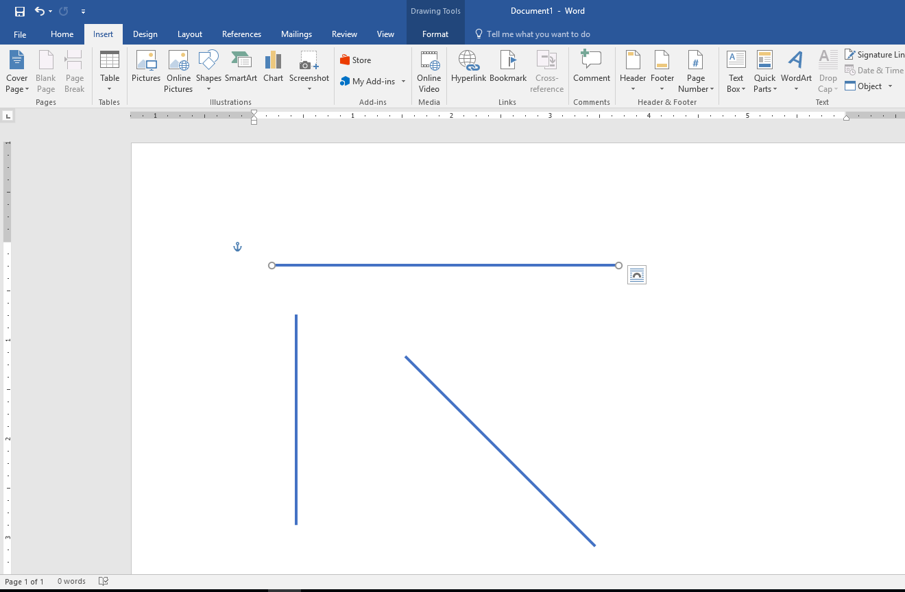 Drawing Lines With Word : Learn new things how to draw straight lines vertical