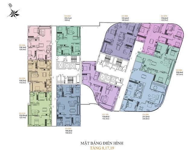 Mặt bằng thiết kế căn hộ Manhattan Tower 21 Lê Văn Lương