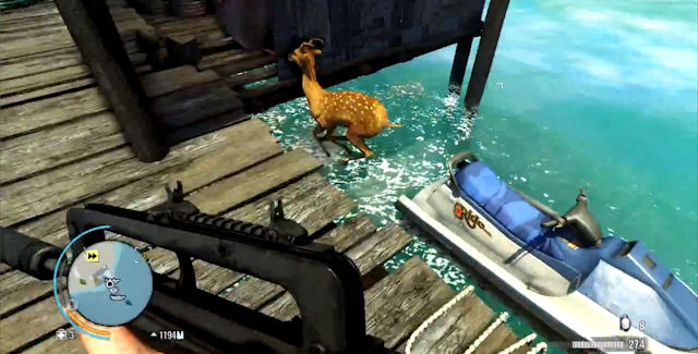 FarCry 3 Animal On Water Glitch