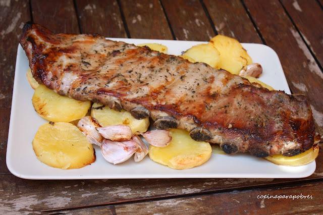Costillas de cerdo adobadas al horno