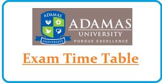 Adamas University Exam Date Sheet 2020