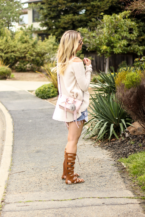 cream long sleeve swing top for spring style parlor girl