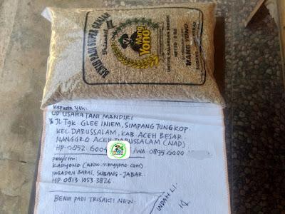 Benih Padi TRISAKTI NEW    Pesanan USAHA TANI MANDIRI Aceh Besar, NAD  (Sebelum Packing)