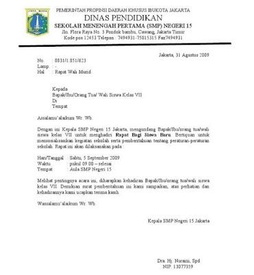 Contoh Surat Dinas Pendidikan