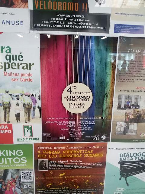 """afiche: Claudio Rojas en """"Encuentro de Charango y otras hierbas 2016"""""""