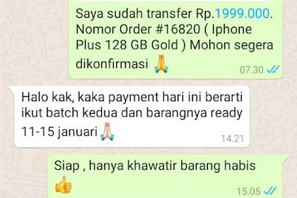 Bukti Transfer & Bukti Chat CS grabtoko.com Dengan Korban - A.N Agus Dari Bojonegoro, Jatim