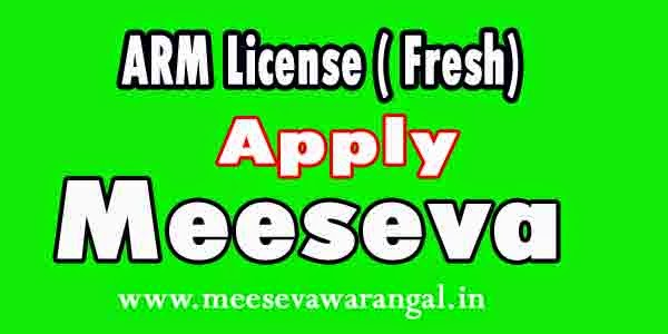ARM License (Fresh) Apply in Meeseva