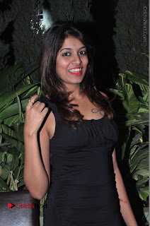 Actress Kavya Kumar Stills in Black Short Dress at F Club pre soft Launch  0005.JPG