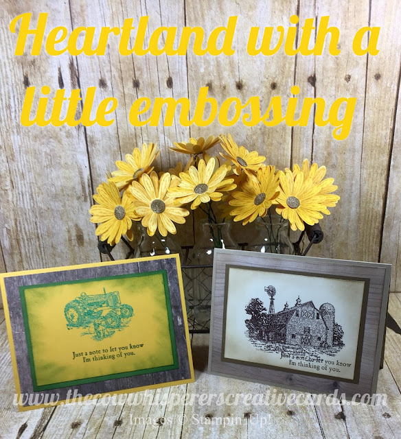 Heartland, Emboss, Embossing, Stampin Up, Card, Rustic, Farm, Tractor