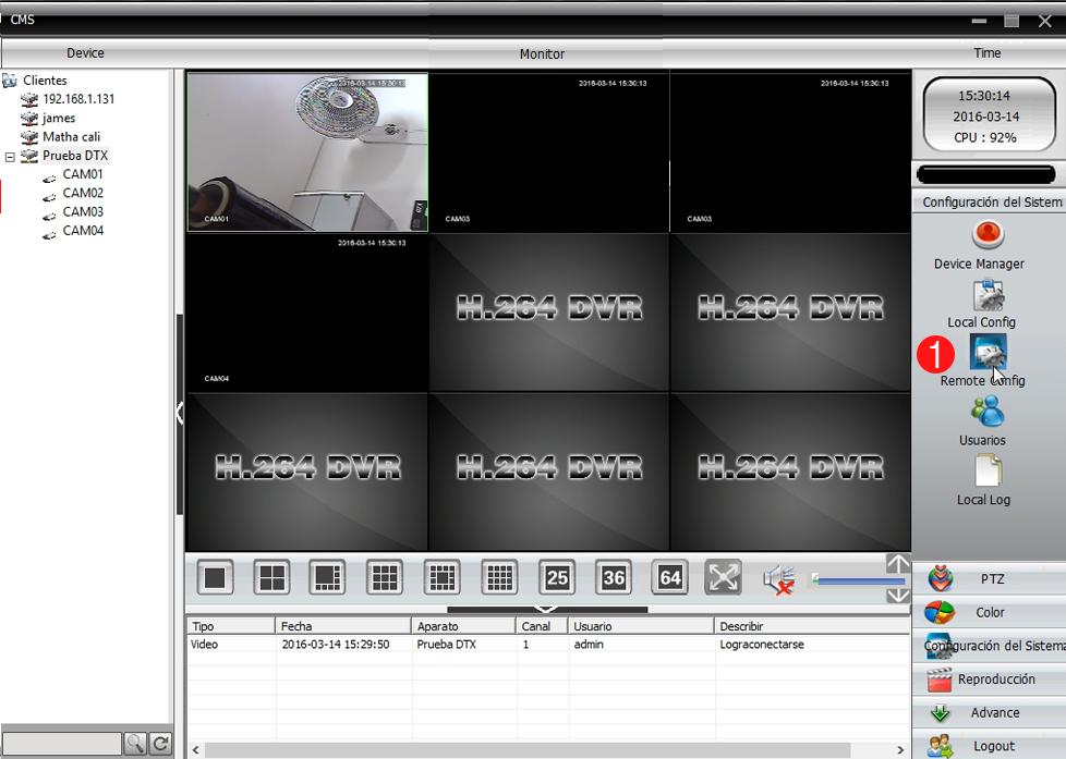 Ubicacion de elementos CCTV
