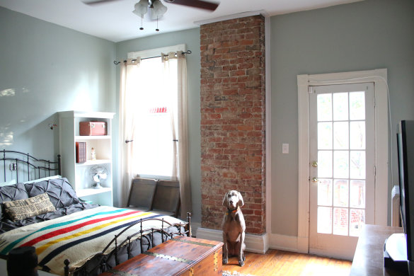 17 Apart: Before & After: Exposing a Brick Chimney Under ...