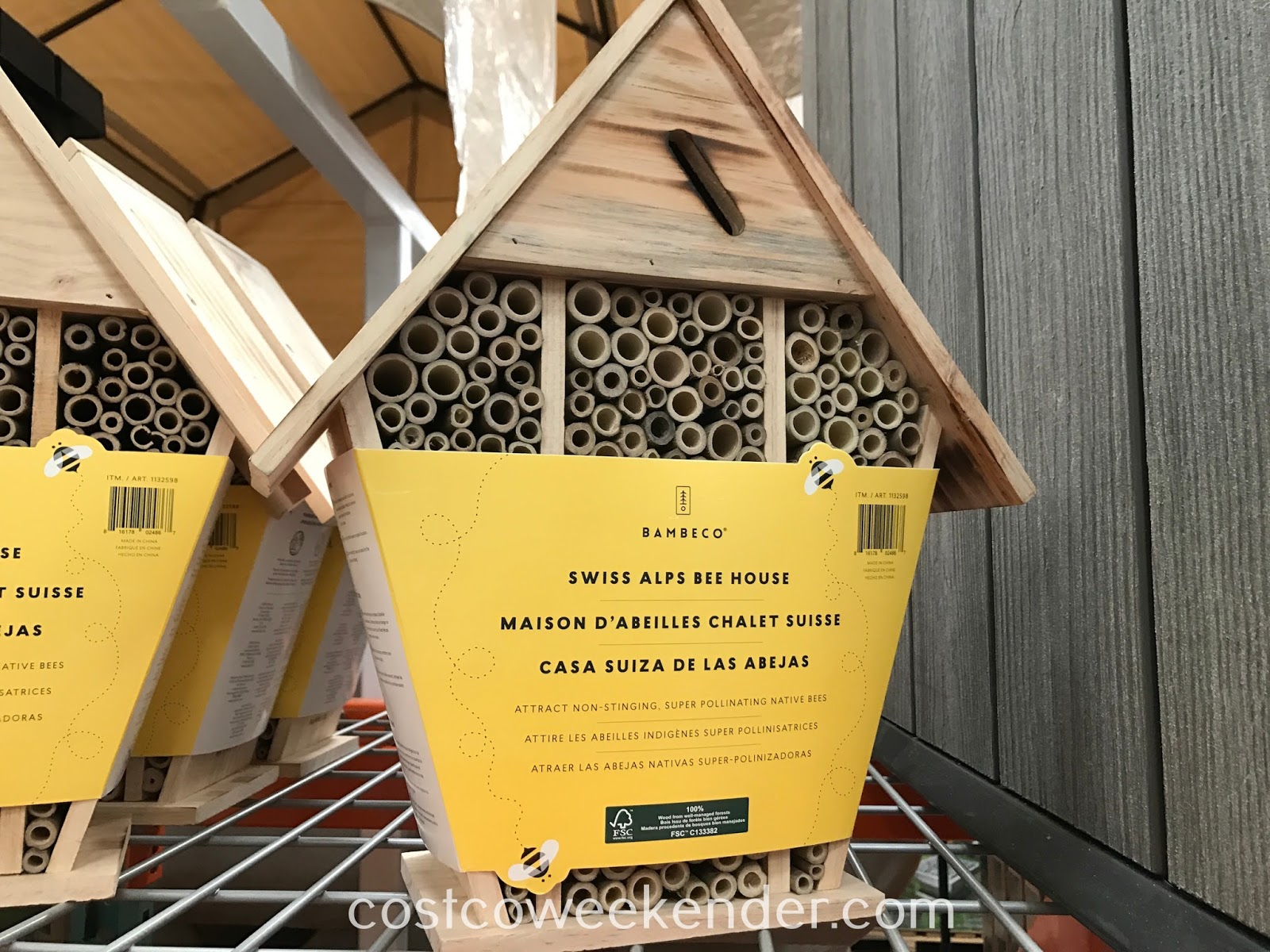 Take up beekeeping with the Bambeco Swiss Alps Bee House
