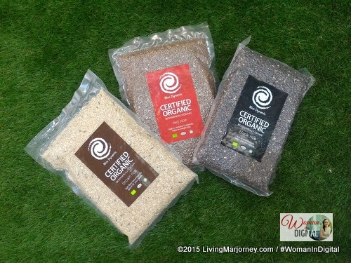 Black, brown organic rice