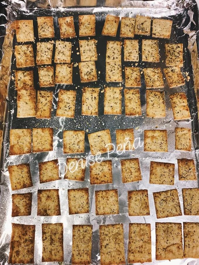 Keto/Low Carb Lavash Bread Crackers