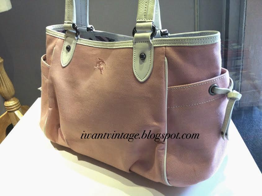 Burberry Blue Label Canvas Top Handle Bag