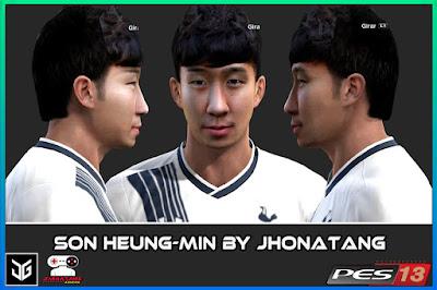PES 2013 Salomón Rondón & Son Heung-Min Face by JhonatanG