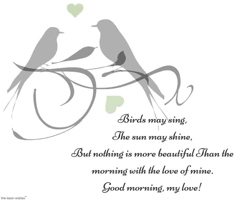 good morning my love poem