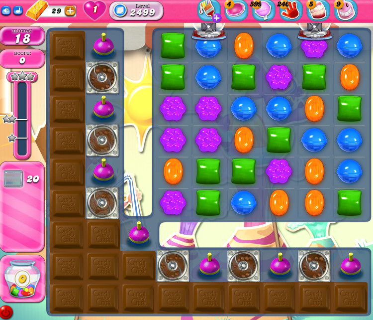 Candy Crush Saga level 2499