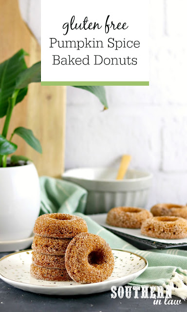 Pumpkin Spice Baked Donuts Recipe - gluten free, low fat, healthy, clean eating recipe, desserts