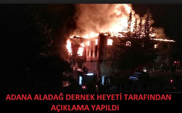 Adana Aladağ Dernek Tarafından Açıklama