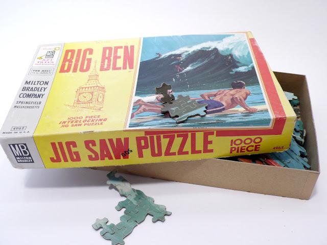 Big Ben Puzzle Surf Riders #4962 1970's