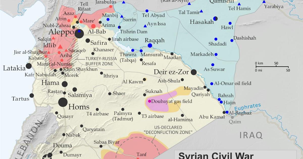 Syrian Civil War Map & Timeline - September 2019 - Political ...