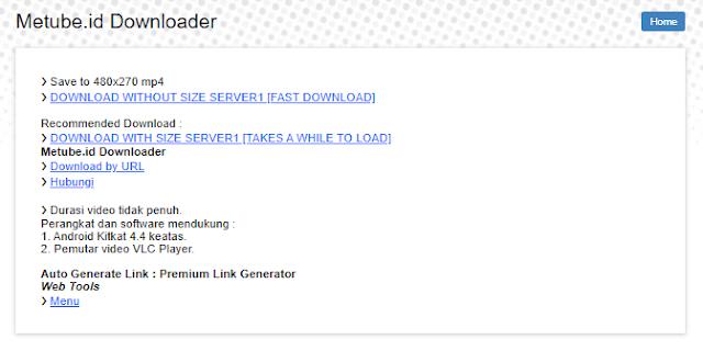 Cara Download Video metube.id Tanpa Aplikasi