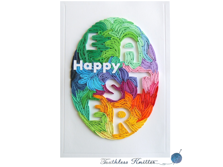 Quilled Easter Egg Card / Kartka Wielkanocna z Quillingowym Jajkiem