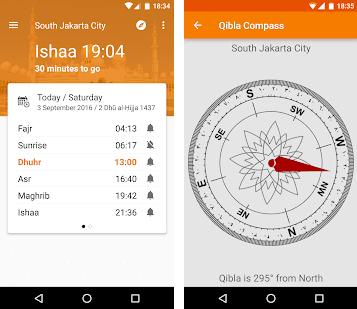 aplikasi ini memberikanmu jadwal sholat dan dan jam imsak saat puasa