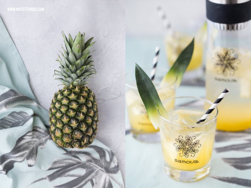 Ananas Food Photography und Pina Colada Eistee Rezept