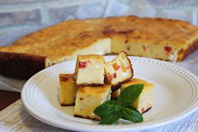 Torta salata con farina di mais