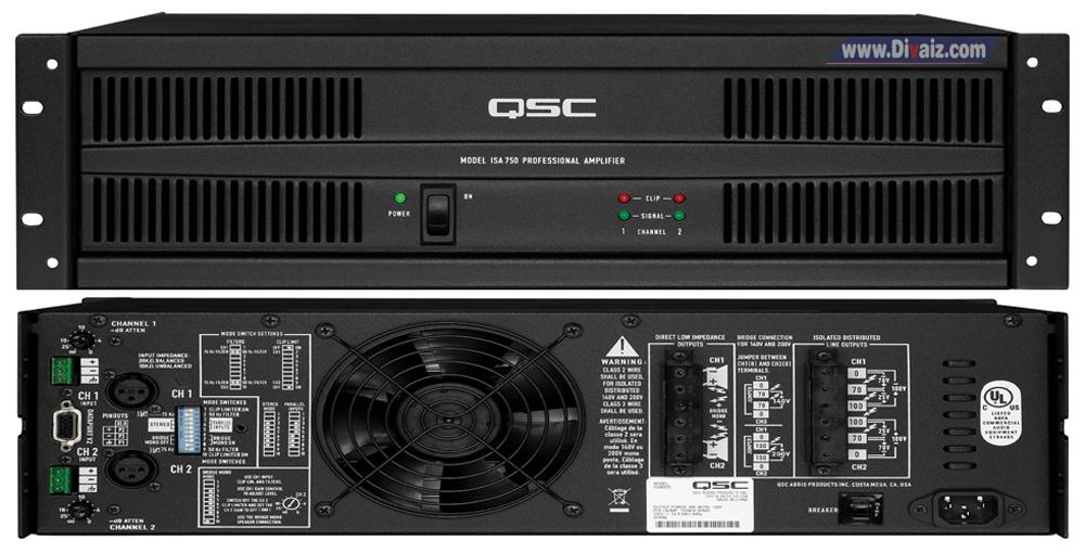 Power Amplifier QSC ISA 300 Ti - www.divaizz.com