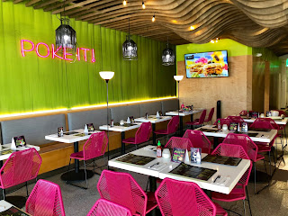 Dining area at Poke It