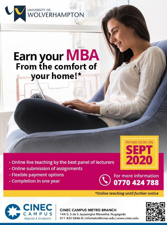 CINEC Campus - Register Now for the Most Accepted British MBA.