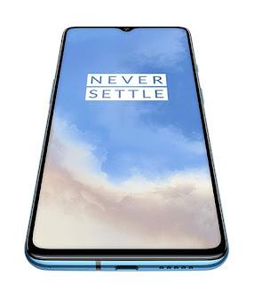 OnePlus 7T (Glacier Blue 8GB RAM Fluid AMOLED Display 128GB Storage 3800mAH Battery)